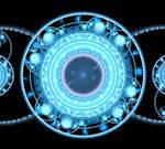 Azure Glowing Atom