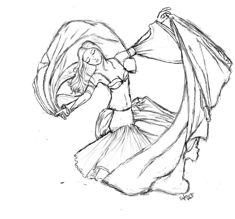 Belly Dancer Sketch by milkywaysora on DeviantArt