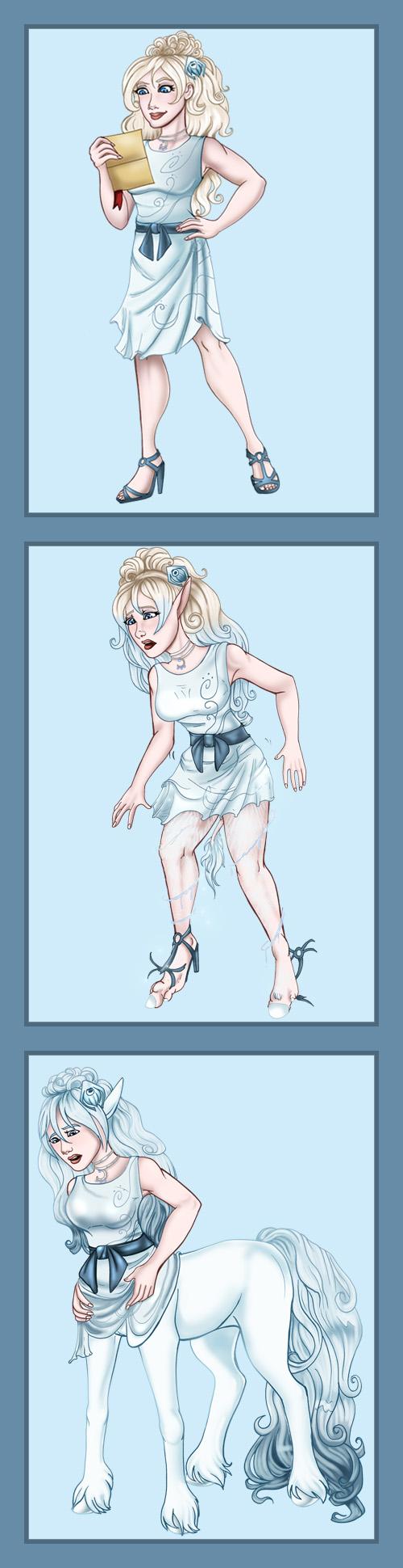 Satine the Centaur: Winter Wear by arania on DeviantArt