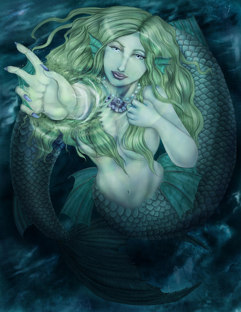 Mermaid's Touch: redraw by arania