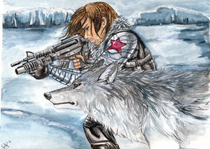 Winter Soldier and Wolf