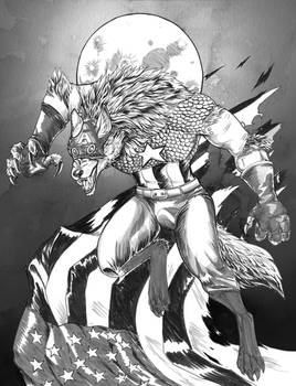 Inktober Piece: Capwolf!