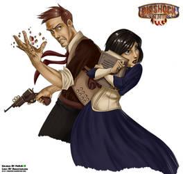 Bioshock Infinite-Booker and Elizabeth by MrDjCos