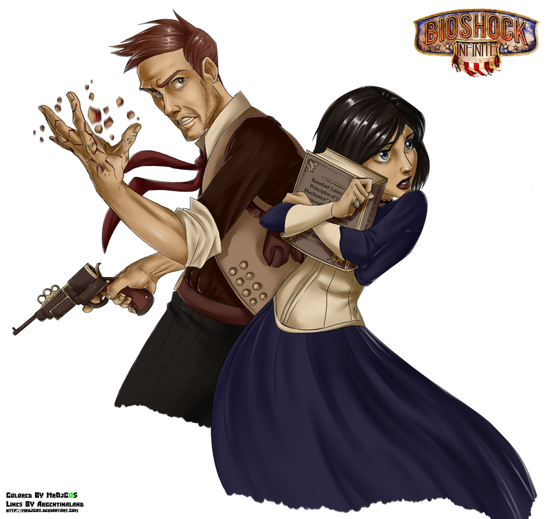 Bioshock Infinite Booker And Elizabeth By MrDjCos