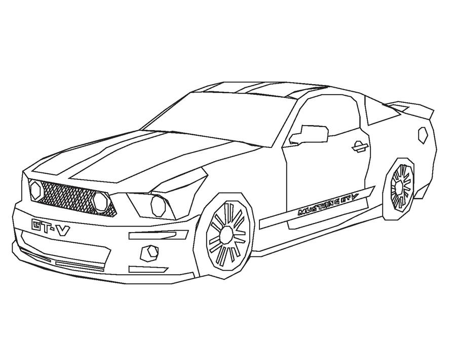 mustang car coloring pages
