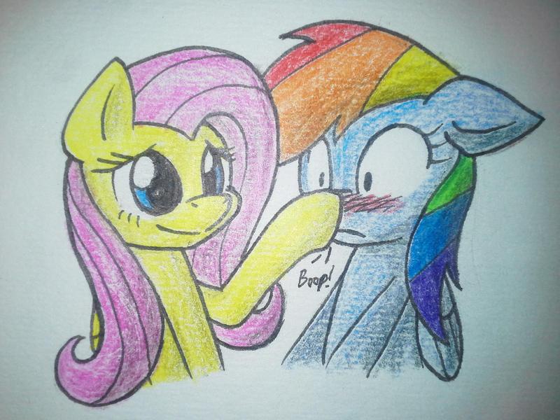 [FanArt] Fluttershy x Rainbow Dash by YoShiMal2u