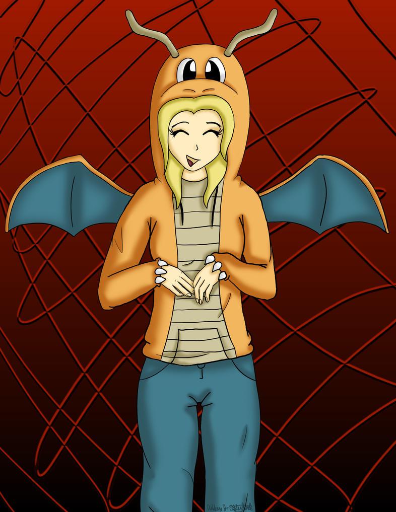 JocyHope in her Dragonite Hoodie by AJBurnsArt