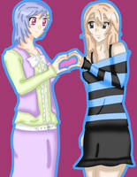 AT - Hakari and Nozomi by AJBurnsArt