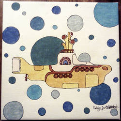 Yellow Submarine on Canvas
