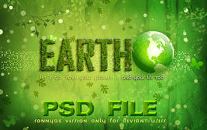 EARTH  PHOTOSHOP FILE by ronnyyax