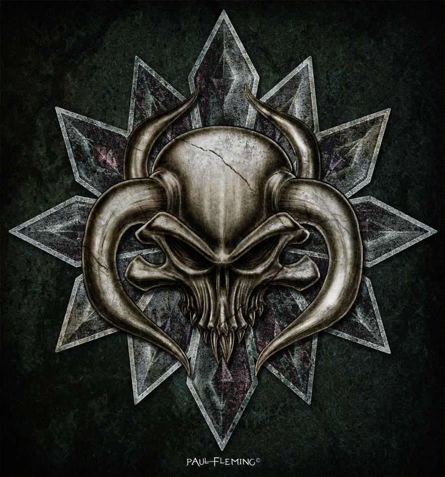 Bull Skull Head Design