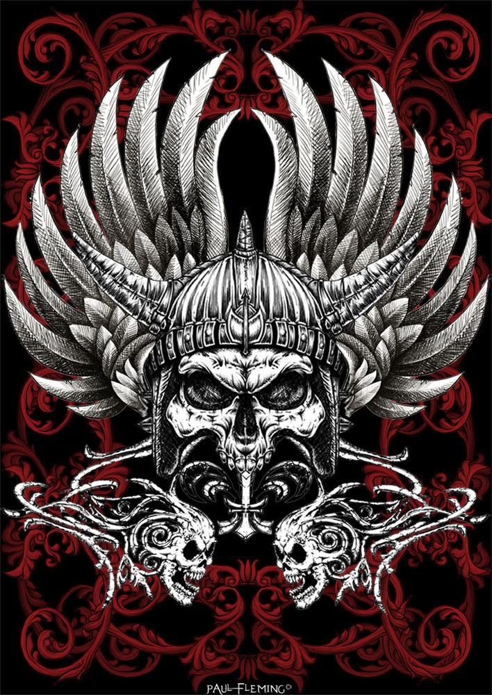 Warrior Skull by Oblivion-design on DeviantArt