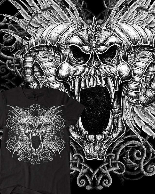 Rams Head T-Shirt Design by Oblivion-design