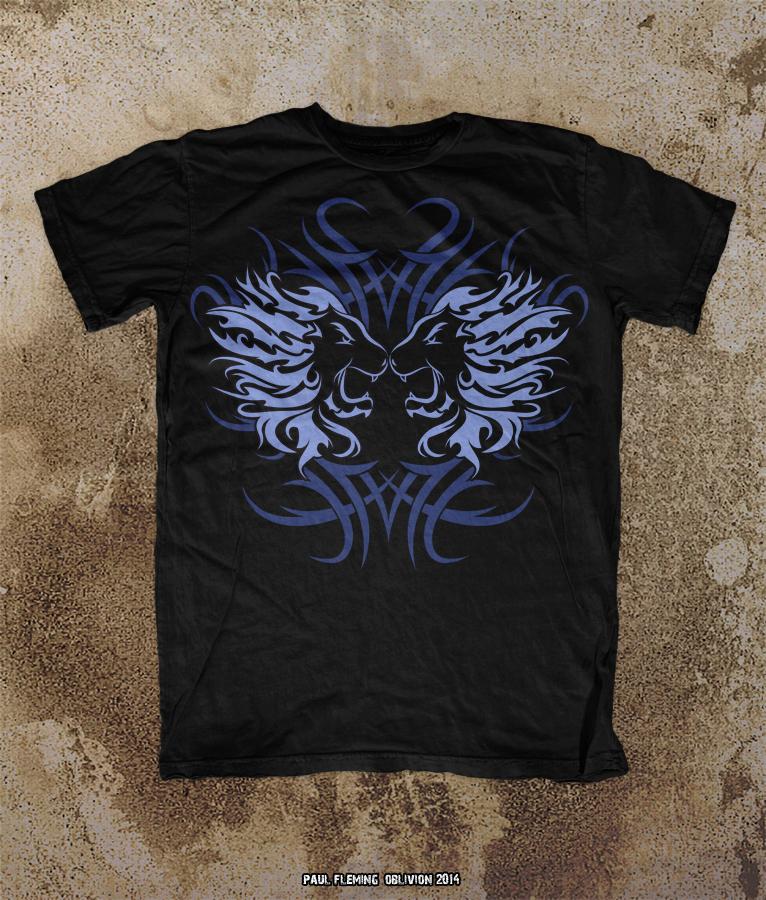 Oblivion tribal lions t shirt mock up sample by oblivion for T shirt sample design