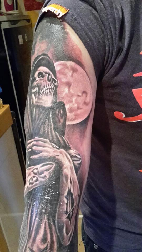 Angel of death tattoo by oblivion design on deviantart for Angel of death tattoo