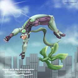 Genji and the Microraptor