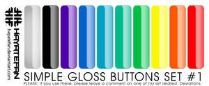 Glossy Button Set No. 1