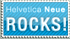 Helvetica Neue ROCKS Stamp by jhasson