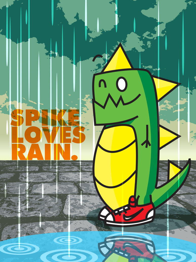 Spike Loves Rain. by jhasson