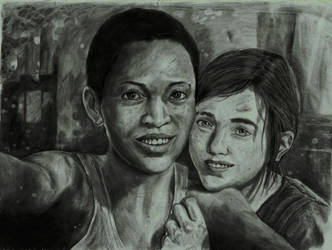 The Last Of Us drawing-Left Behind by zakValkyrie