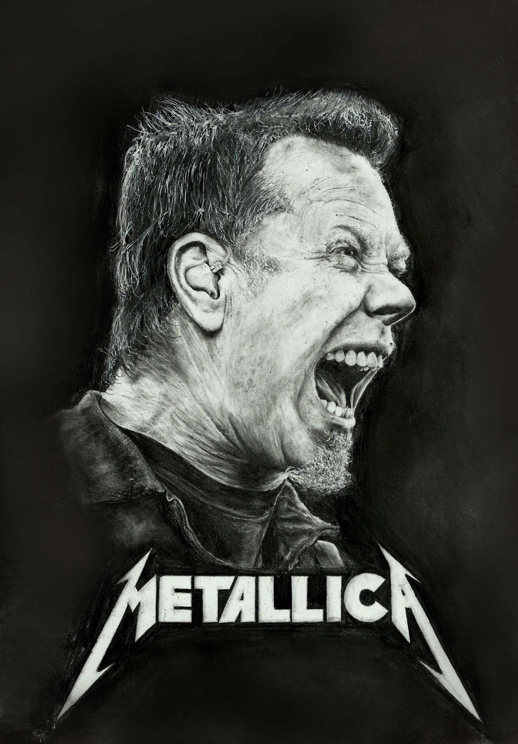 James Hetfield drawing