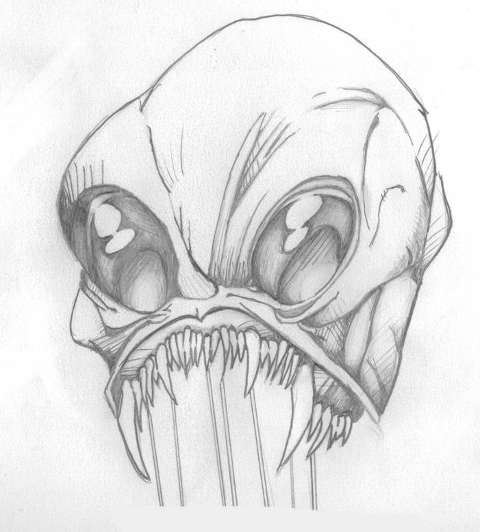 Monster pencil test by thakayne on DeviantArt