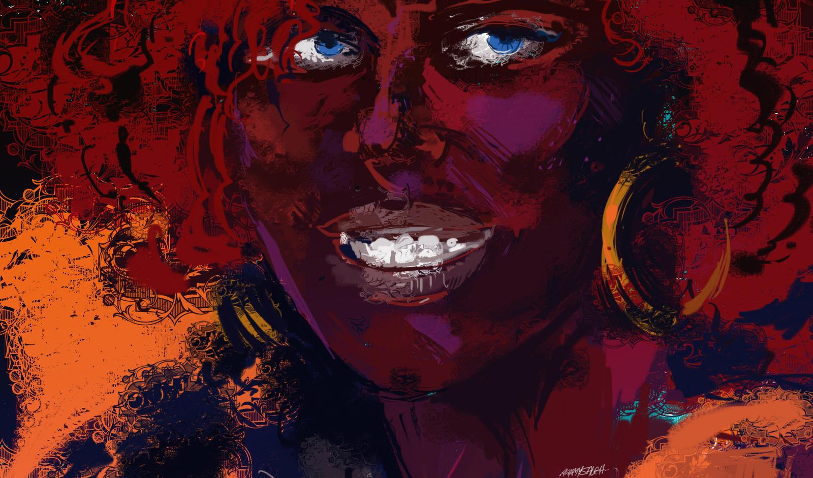 black girl by RahmySaleh