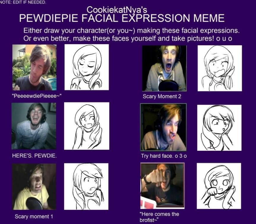 pewdiepie facial expression meme by derpyrinhooves on deviantart