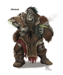 Orc Shaman submission by rjparamonte