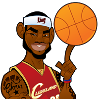 LeBron James cartoon by LilJonesis2Real
