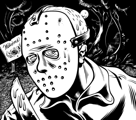 jason voorhees by jason coloring pages