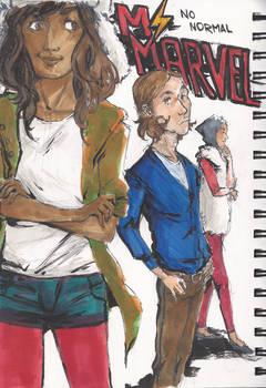 Kamala, Bruno and Nakia - Ms. Marvel