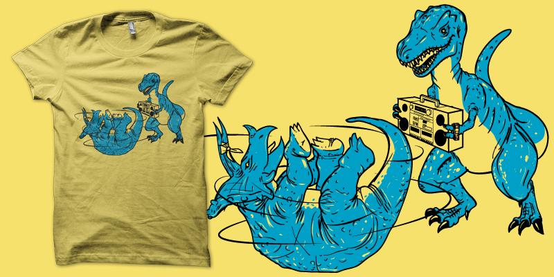 Prehistoric B-boys shirt by biotwist