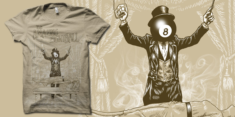 amazing magic eightball shirt by biotwist