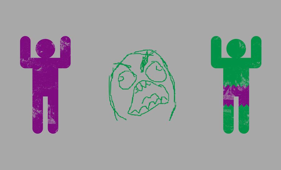 Minimal Hulk by biotwist