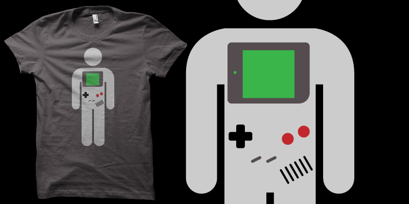 gameboy shirt by biotwist