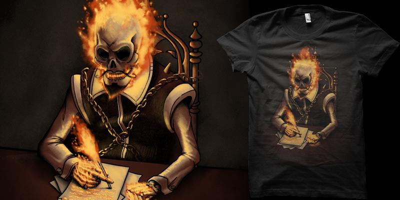 Ghost writer t shirt by biotwist