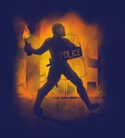 Riot Cop by biotwist