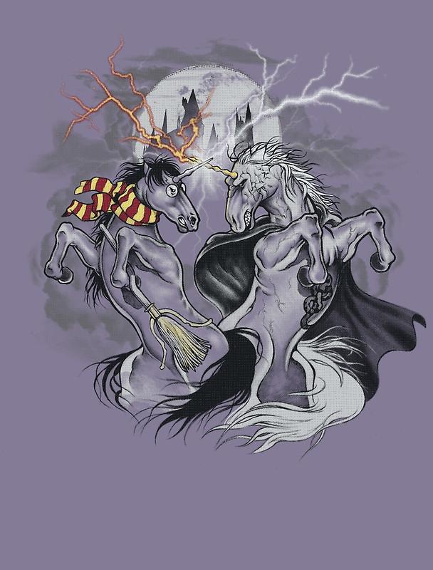 harry potter with unicorns by biotwist