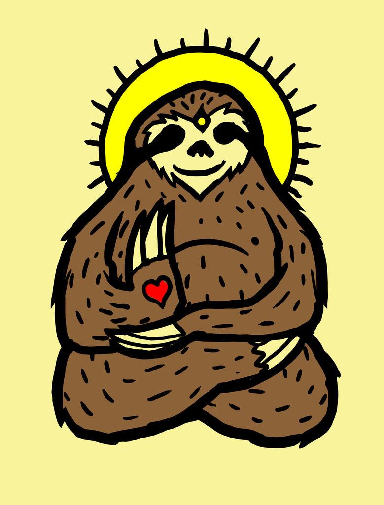 Budda-like Sloth by biotwist