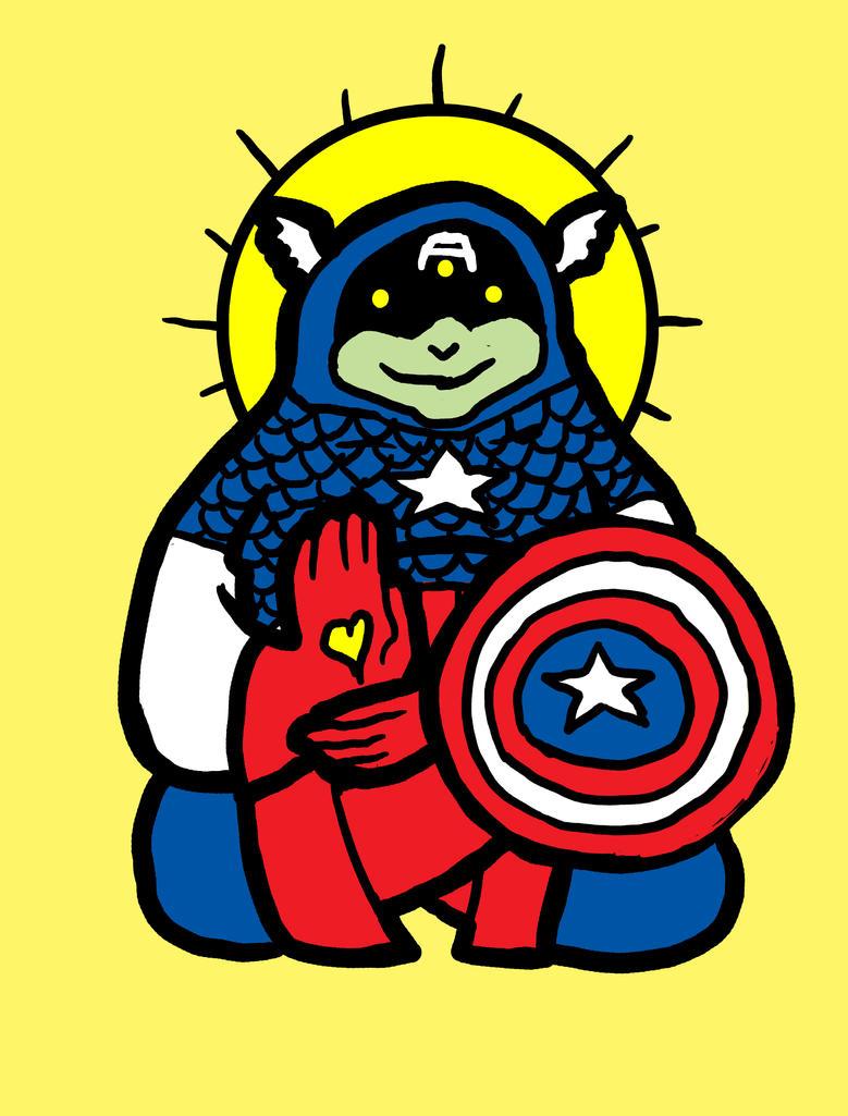 Spirit Animal: captain america by biotwist