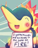 Pokemon Shaming! Cyndaquil by Lunaomi