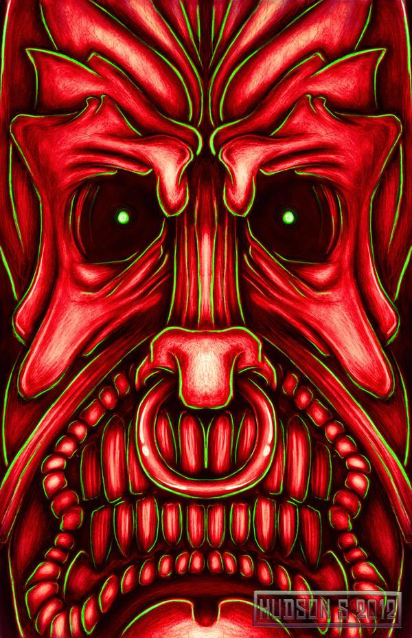 Evil Tiki by HarshKarma