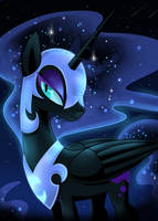 Nightmare Moon by OkapiFeathers