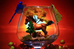composition autumn golden crystal