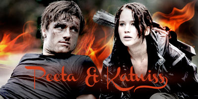 Peeta and Katniss on Fire