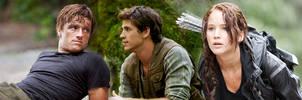 Peeta, Gale, Katniss by Xavvu