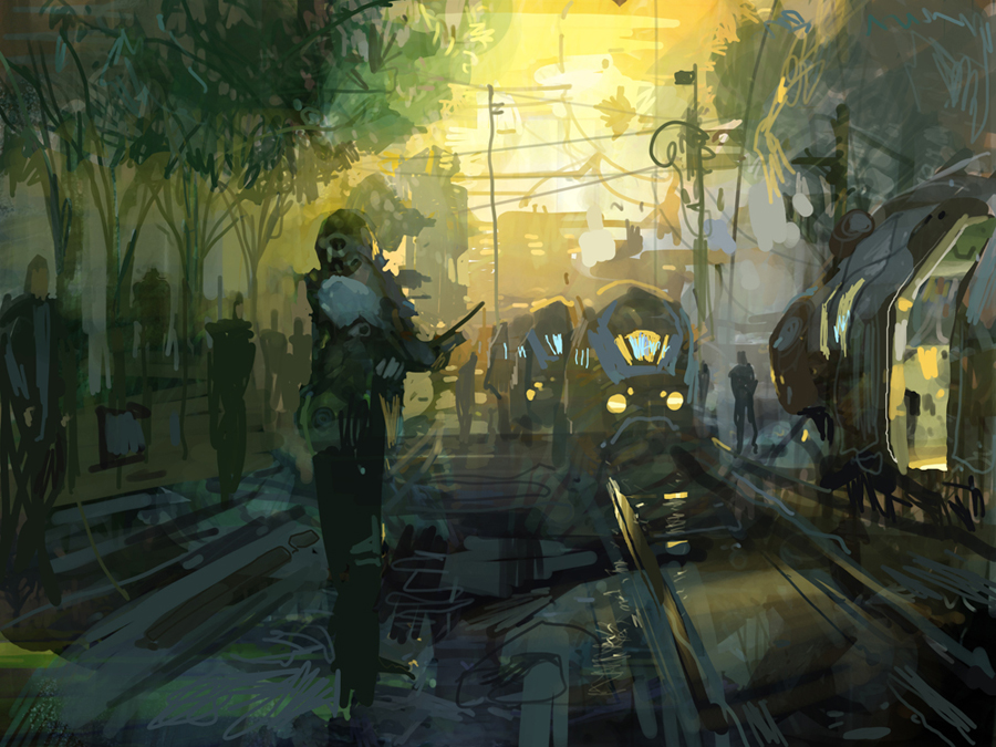 train tracks by artbytheo