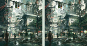 Street Scene - stereo