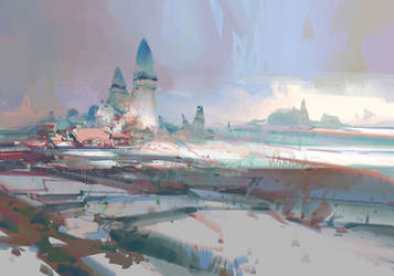 Guild Wars 2 - rock scape by artbytheo